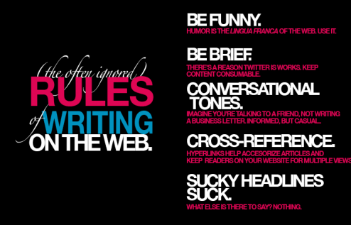 The Rules of Writing on The Web