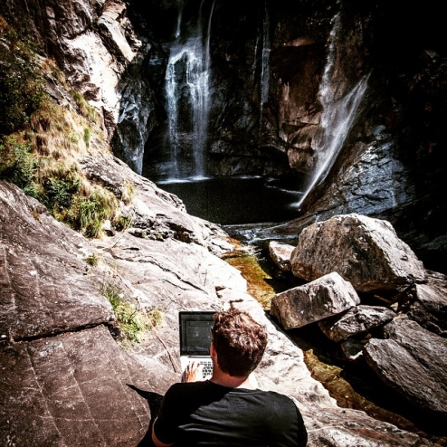 Always great to work in my #outdooroffice. At Cascata del Salto with @redbulladventure